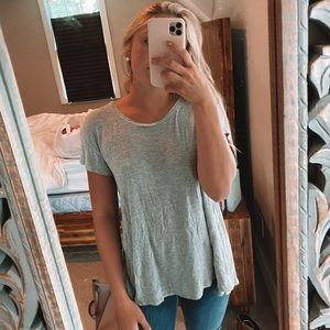 heather gray scoop neck tunic tee! offers welcomed